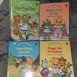 4 Muppets Books!  1992 Teaching Positive Values